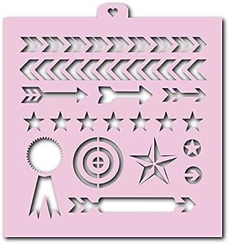 stars footprint Cookie Stencil set Man chevron 6 pcs: camouflage arrows