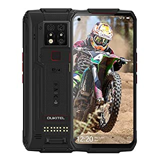 Rugged Cell Phone Unlocked, OUKITEL WP7 Smartphone 8GB+128GB 48MP Night Vision Camera 8000mAh Android 9.0 Dual Sim 4G IP68 Waterproof 6.53 Inch FHD+ Support NFC Face Fingerprint Unlock (2020)