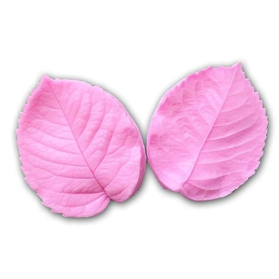Dealglad® Forma de Hoja de prensa molde de tarta de silicona 3d fondant azúcar Craft arcilla Molde DIY Decoración de Pasteles Herramienta: Amazon.es: Hogar