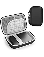 PHD External Hard Drive Case for Toshiba Canvio Basics/WD Elements SSD/Seagate Game Drive/Samsung T5,Travel Protective Cover Storage Bag(Black)