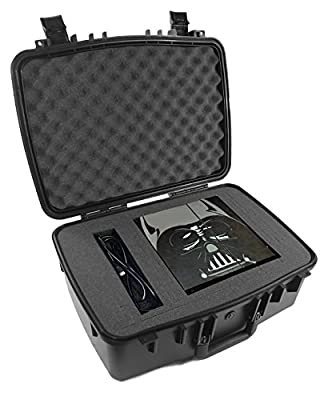 CASEMATIX Waterproof Rugged Airtight Video Game Console Travel Carry Case - Fits Playstation 4 PS4 System , Two Controllers , Games , Headset , Cables and More Gaming Accessories by CASEMATIX