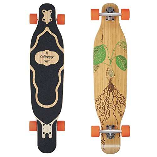 (Loaded Boards Fattail Bamboo Longboard Skateboard Complete (80a Stimulus, Flex 3))