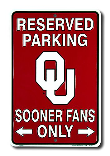 Sign Maroon Parking (Signs 4 Fun Spscok OK Sooner Fans Small Parking Sign)
