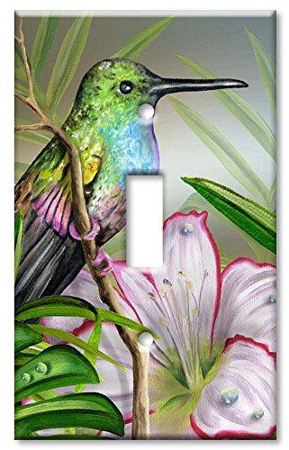 Single Gang Toggle Wall Plate - Hummingbird at Rest