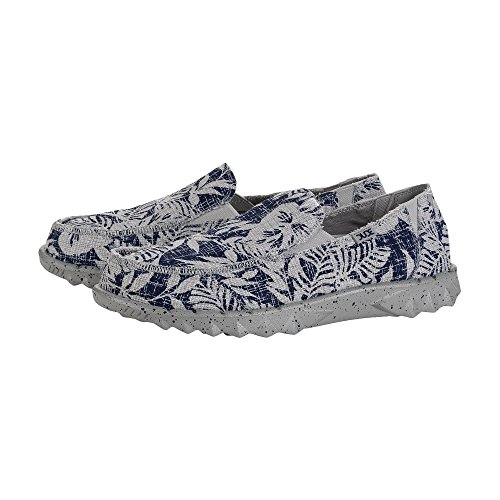 Dude Shoes Hey Men's Farty Print Navy Flower Slip On/Mule UK12/EU46 Ebud3EaY