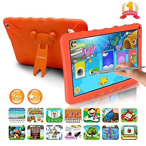 🥇 Tablet para Niños con WiFi 9.0 Pulgadas 3GB RAM 32GB/128GB ROM Android 9.0 Pie Certificado por Google GMS Tablet Infantil 1.5Ghz Quad Core Batería 6000mAh Tablet PC Netflix Juegos Educativos
