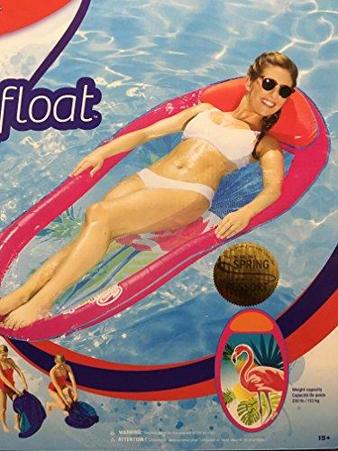 SwimWays 6047030 Swim Ways Spring Float Graphic Prints-Pink Flamingo Adult, Multi