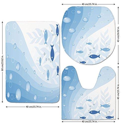 Heat Wave Tank Under (3 Piece Bathroom Mat Set,Aquarium,Abstract-Vivid-Underwater-Composition-with-Waves-Bubbles-Fishes-and-Plants-Decorative,Light-Blue-White.jpg,Bath Mat,Bathroom Carpet Rug,Non-Slip)
