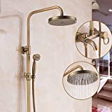 Shower mixer Shower Faucet Bathroom Mixer Shower Set Thermostatic Valve With Shower Head And Hand Held Shower
