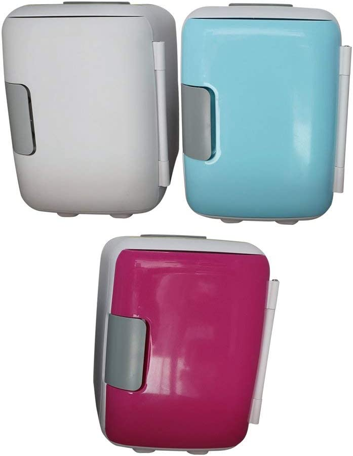 bansd 4 Liter Portable Compact Personal Fridge Cools /& Heats Great For Bedroom Blue Uk