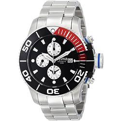 Yema Men's YMHF0201 Sous Marine Chronograph Analog Display Analog Quartz Silver Watch