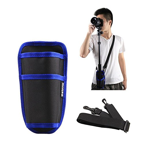 Selens Portable Tripod Holder Bag Case Pouch With Waist Buckle Velcro   D Ring Strap For Monopod Tripod And More