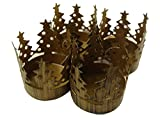 Club Pack of 72 Brass Christmas Tree Pillar Candle Holders