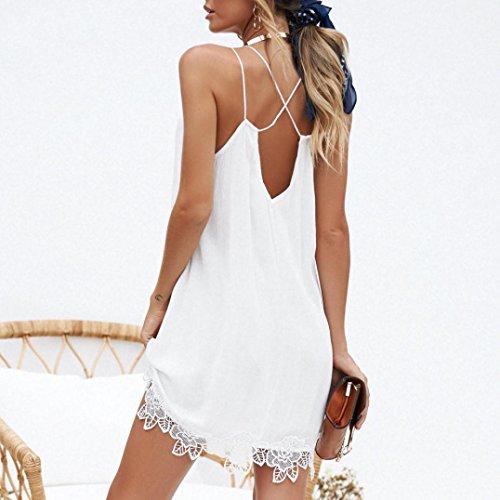 Del Spaghetti Vestito Chiffon Vestito Donne Pannelli Hemlock Bianco Bianco Di Cinghie V Del Delle Esterni m Dalla Spiaggia collo YwqAXdHdx