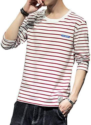 Tシャツ 長袖 メンズ ストライプ メンズTシャツ カットソー ファッション カジュアル ストライプTシャツ 柔らかい 細身 タイト Tシャツ 快適 春夏秋