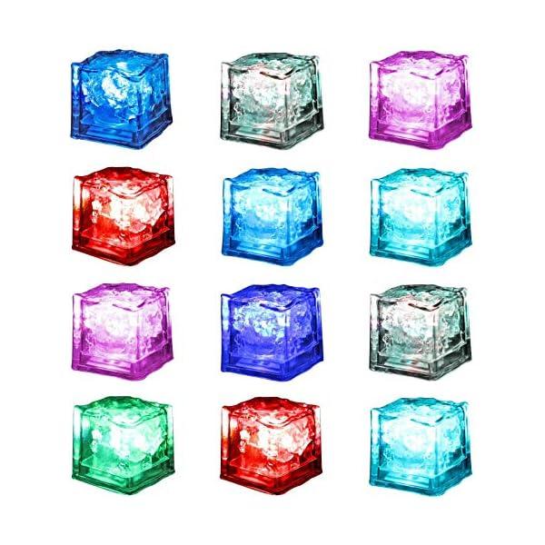 12 Pezzi Luminous ice,Xrten Cubo Ghiaccio LED Ice Cube Adatto per Bar, Balli, Ricevimenti, Feste, Matrimonio 5 spesavip