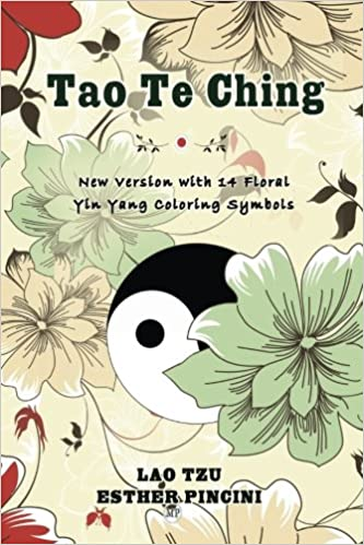 tao te ching new version with 14 floral yin yang coloring symbols