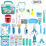 Balnore Doctor Kit for Kids 35 Pieces Pretend Play Dentist Toy Medical Kit Easter Stuffers and Doctor Role Play Educational Toy for Kids, Costume Dress-Up Classroom,Party