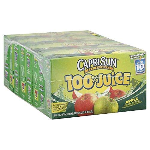 Capri Sun Apple Splash Juice, 6 Ounce -- 40 per case.