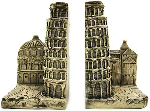 Amazon.com: Things2Die4 Leaning Tower of Pisa Bookends Italy: Home & Kitchen