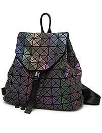 Geometric Backpack Holographic Reflective Backpacks Fashion Backpack
