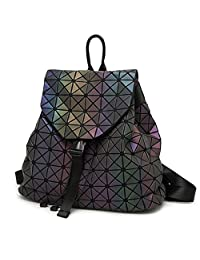 HotOne Geometric Luminous Purses and Handbags Shard Lattice Eco-Friendly Leather Rainbow Holographic Purse