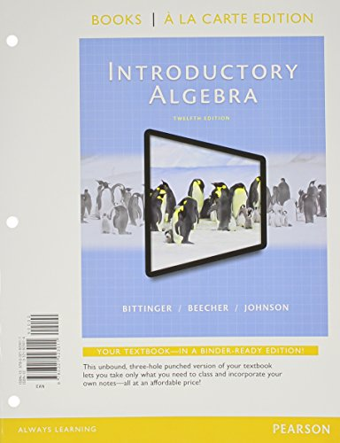 Introductory Algebra, Books a la Carte Edition, Plus MyLab Math -- Access Card Package (12th Edition)