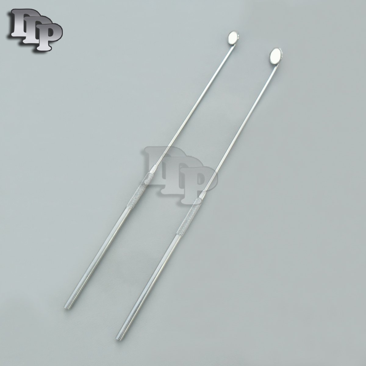 SET OF 2 LARYNGEAL BOILABLE HYGIENE DENTAL MIRRORS WITH HANDLE #000 #00 (DDP QUALITY)