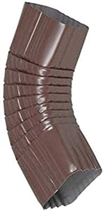 Amerimax Home Products 3326519 2x3 Galvanized B Elbow, Brown