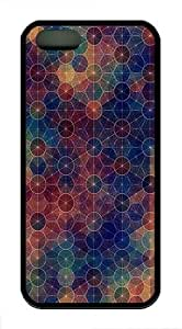 Abstract Circles Pattern TPU Case Cover For iPhone 5 and iPhone 5S Black by lolosakes