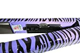zebra flat iron - Hair Straightener - Pro Flat Iron Straighteners with 1 Inch Ion Ceramic Plates - Adjustable Temperature Suitable for All Hair Types Makes Hair Shiny & Silky Heats Up Fast Dual Voltage (Purple Zebra)