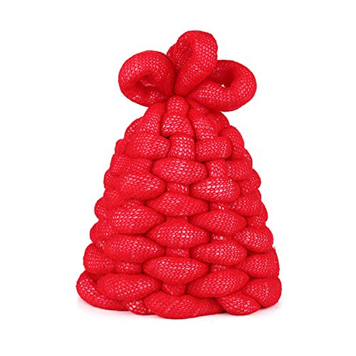 KIAYI Knit Wool Caps, Ladies Winter Warm Hat Candy Colors Sponge Novelty Modeling Beanie Hats (44-59cm),Red ()