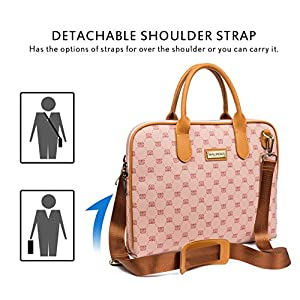 Malirona 15.6 Inch Laptop Shoulder Bag Waterproof Laptop Case for 15-15.6 Inch Dell HP Lenovo Chromebook Ultrabook Computer Carry Case