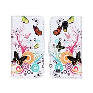 Quaroth HELPYOU Samsung i9190 Folio Colorful Butterfly Flower Luxury Magnetic Flip Leather Stand Case With Card Slots...