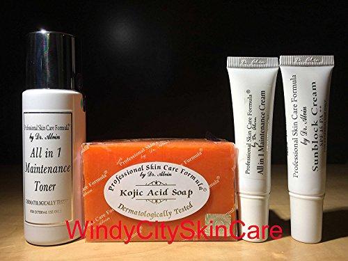 Dr Alvin All in 1 Maintenance set - Professional Skin Care Formula (set of 4)