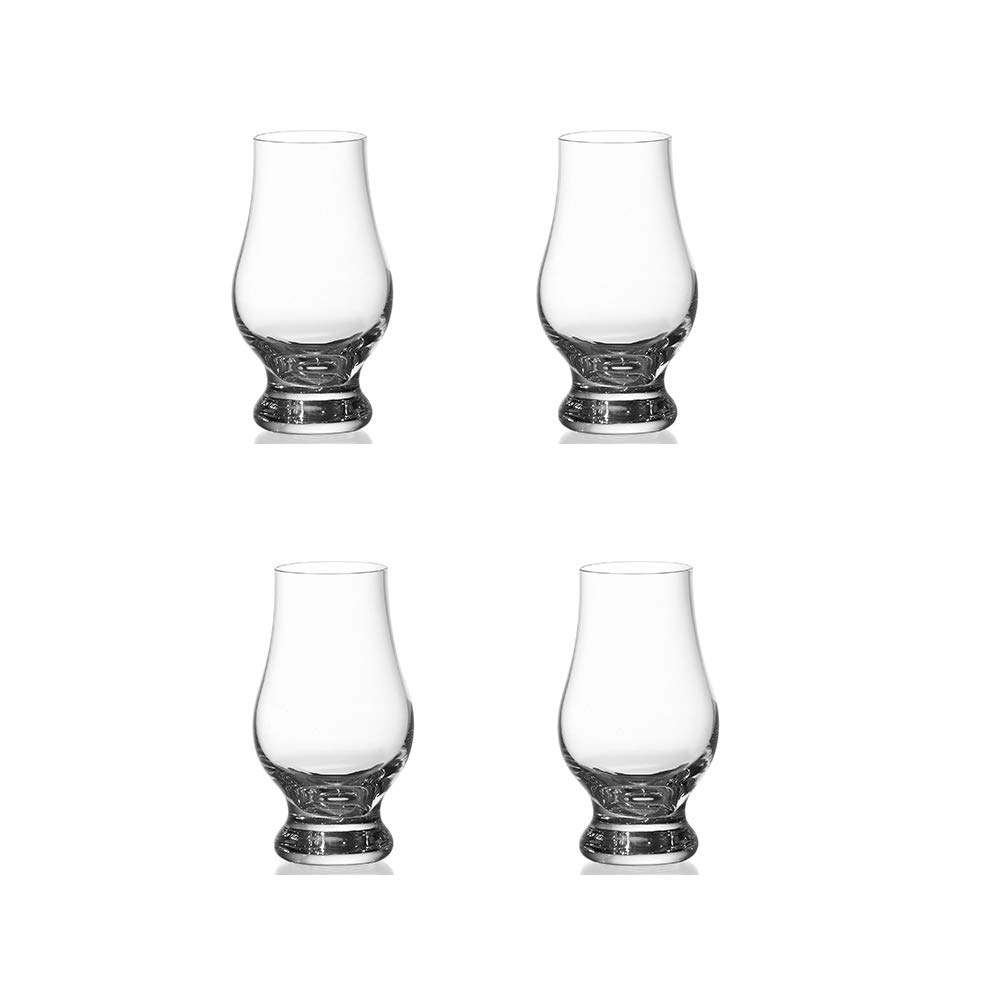 Lead-Free Set of 4 LasVen Crystal Whiskey Glasses