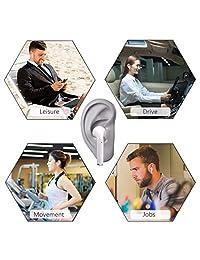 Auriculares inalámbricos, auriculares inalámbricos con micrófono, mini auriculares deportivos con cancelación de ruido, con funda de carga portátil