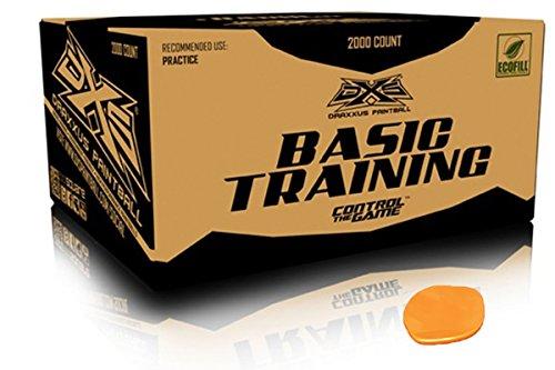 GI Sportz DXS Basic Training Paintballs Case of 2000 Rounds (Orange)