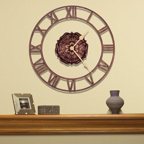 Whitehall Rosette Floating Ring Clock Antique Copper - Floating Ring Clock