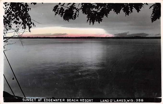 Land O Lakes Wisconsin Sunset At Edgewater Beach Resort
