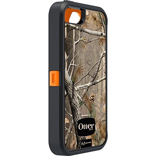 Camouflage Black Silicone (OtterBox Defender Series Case with Realtree Camo for Apple iPhone 5 Xtra Orange black - Case Only)