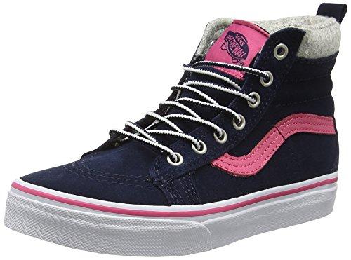 (Vans Girl's SK8-HI (MTE) Navy/Pink Skateboarding Shoes VN0A2XSNK5M (12.5 M US Little Kid))