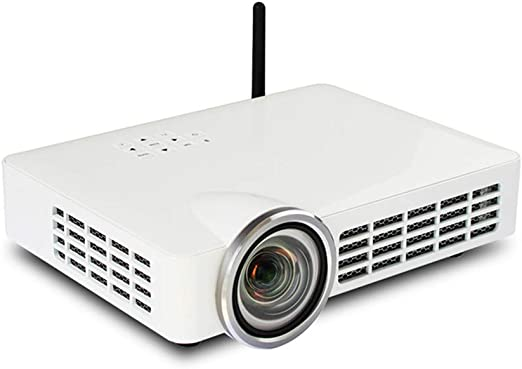 Proyector 3D proyector de Tiro ultracorto de Alta definición para el hogar WiFi inalámbrico sin televisor de Cine en casa inalámbrico con Pantalla: Amazon.es: Hogar
