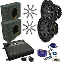 Kicker CVR102 10 Truck Bundle with MB Quart ZA2-1000.1D 1000 Watt Mono Amp, Enclosure, Wire Kit