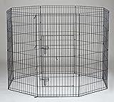 48'' Homey Pet Folding LCk 4ft Pet Playpen with Door, Black