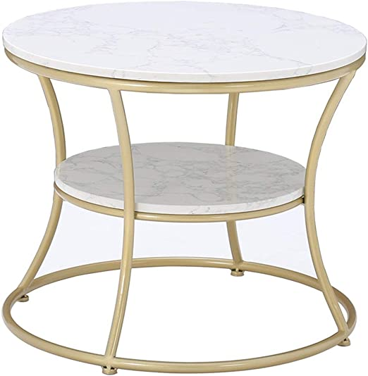 Simple Coffee Tableround Side Table Double Layered