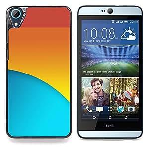 """Qstar Arte & diseño plástico duro Fundas Cover Cubre Hard Case Cover para HTC Desire 826 (Rojo Azul Amarillo"""")"""