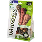 Whimzees Natural Grain Free Dental Dog Treats, Extra Small Brushzees, Bag Of 48 For Sale