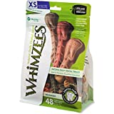 Whimzees Natural Grain Free Dental Dog Treats, Extra Small Brushzees, Bag Of 48