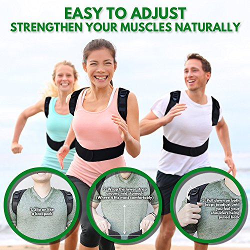 Back-up | Comfortable & Effective Posture Corrector for Women & Men | Clavicle & Shoulder Brace | Back Support | Lower & Upper Back Pain Relief | Cervical & Lumbar Support - Fully Adjustable by Raitera Health & Wellness (Image #3)